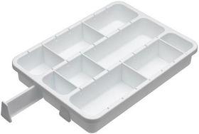 Progressive Customizable 6 Divider Drawer Organizer - (400mm x  300mm x 70mm) White