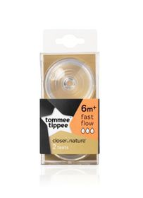Tommee Tippee - Easivent Teat 2  Pack - Fast Flow