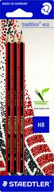 Staedtler Tradition Eco HB Pencils - Blister of 3