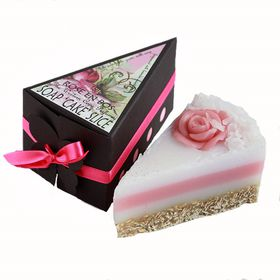 Rose en Bos Soap with Exfoliator- 'Cake' Slice 100g - get your slice