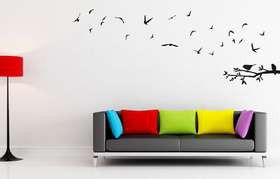 Fantastick - Fly Away Birds Vinyl Wall Art