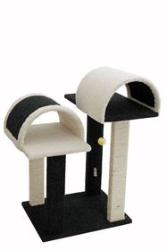 Scratzme The Igloos Scratching Post - Grey/Charcoal