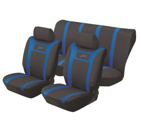 Stingray - Sport Polyester 6 Piece Seat Cover Set - Blue