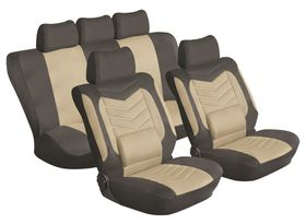 Stingray - Grandeur 11 Piece Car Seat Cover Set - Tan