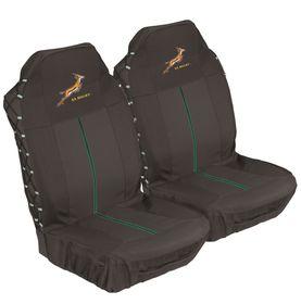 Stingray - Springbok Front Seat Cover Set - Black