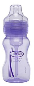 Dr.Brown's - 240ml Wide Neck Baby Bottle - Purple