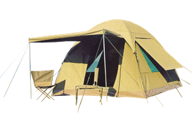 Bushtec - Gemsbok 6 Person Canvas Dome Tent - Khaki