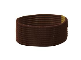 Chic Thin Hair Elastics Band 10 Pack - Brown