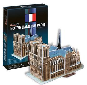 Cubic Fun Notre Dame Paris France - 40 Piece 3D Puzzle