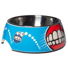 Rogz 2-in-1 Small 160ml Bubble Dog Bowl - Comic Design