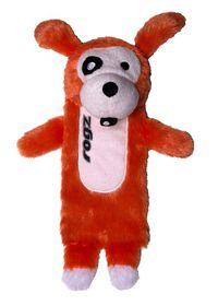 Rogz - Thinz Small 20cm Plush Refillable Squeak Dog Toy - Orange