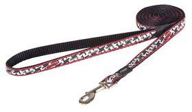 Rogz Fancy Dress Small 11mm Jellybean Fixed Dog Lead - Hound Dog Design