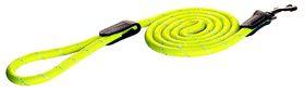Rogz - 6mm 1.8m Long Fixed Dog Rope Lead - Yellow Reflective