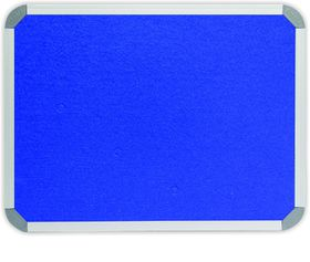 Parrot Info Board Aluminium Frame - Royal Blue Felt (900 x 600mm)