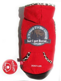 Dog's Life - Bored Tee Red - 2 x Extra-Small
