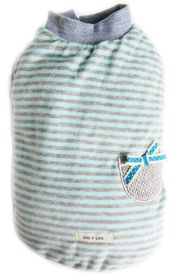 Dog's Life - Pocketed Striped Wooly Baby Bue03 - Extra Small