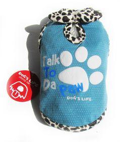 Dog's Life - Talk 2 Paw Tee Blue - 2XS