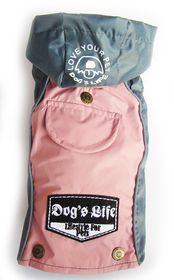 Dog's Life - Winter Rain Coat - Pink - Extra Small