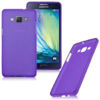 Purple Frosted TPU Cover Case for Samsung Galaxy A5