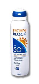 Techniblock SPF 50+ Sun Spray 150ml