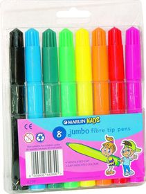 Marlin Kids 8 Jumbo Fibre Tip Pens