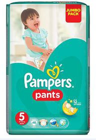 Pampers - Active Baby Nappy Pants - Size 5 - Jumbo Pack (48 count)