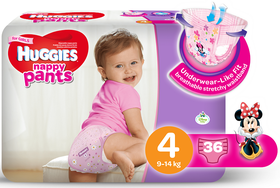 Huggies - Nappy Pants Girl - 36 - Size 4
