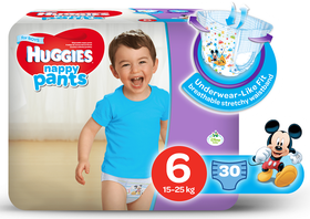 Huggies - Nappy Pants Boy - 30 - Size 6