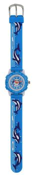 Cool Kids Boys Round Bezel Dolphin Watch in Blue