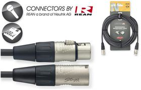 Stagg NMC10R 10M N-Series XLR Microphone Cable with Rean Connectors