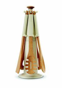 Joseph Joseph Elevate Wood Carousel Utensil Set