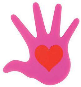 Pylones Heart In Hand Pink Trivet