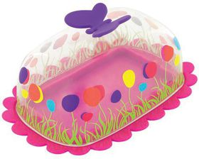 Pylones - Pink Butterfly Butter Dish