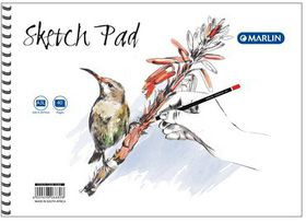 Marlin A3L 40 Leaves Sketch Pad Side Spiral (5 Pack)