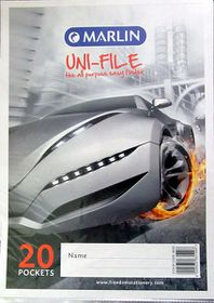 Marlin Uni-File A4 Soft Cover Display File - 20 Pocket