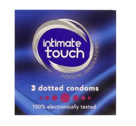 Intimate Touch Dotted Condoms - 3's