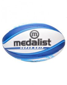 Medalist Super Grip Rugby Ball Size 3 - Blue/White