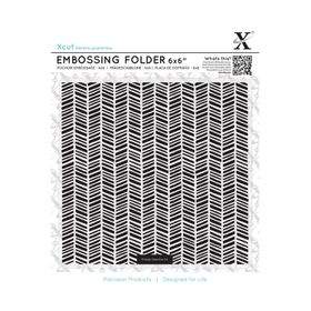 Xcut 6X6 Embossing Folder - Herringbone