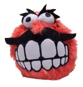 Rogz Fluffy Grinz Large 8cm Dog Plush Squeak Toy - Red