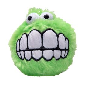 Rogz Fluffy Grinz Large 8cm Dog Plush Squeak Toy - Lime
