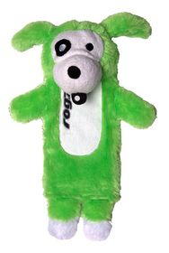 Rogz Thinz Medium 26cm Plush Refillable Squeak Dog Toy - Lime