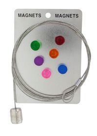 Pylones  6 Piece Cylinder Magnet Set - Multi-Coloured