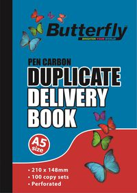 Butterfly A5 Duplicate Book - Delivery 200 Sheets