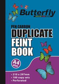 Butterfly A4 Duplicate Book - Feint 200 Sheets