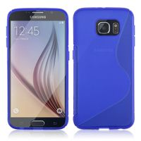 S Line TPU Cover Case for Samsung Galaxy S6 G920 - Blue