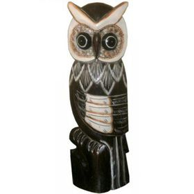 Pamper Hamper - Wooden Owl 50 cm - Dark Wood