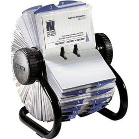 Rolodex A-Z Rotary Open Card File - Black