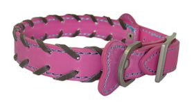 Pucci - Leather Collar - Pink - Large (40cm x 1.8cm)