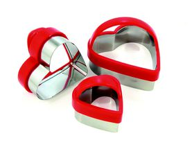 Eddingtons - Heart Pastry Cutters - 3 Piece