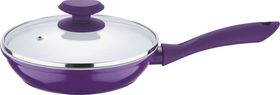 Wellberg - 28 cm Frypan With Lid - Purple